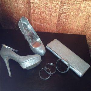 Silver Dust Heels